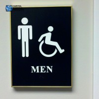 Building Sign: Restrooms #1164